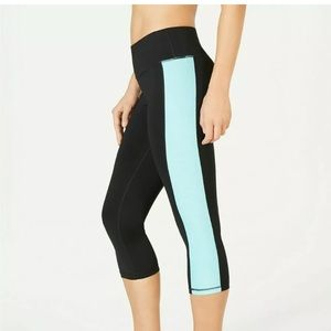 Ideology Womans Cropped Colorblock Legging workout